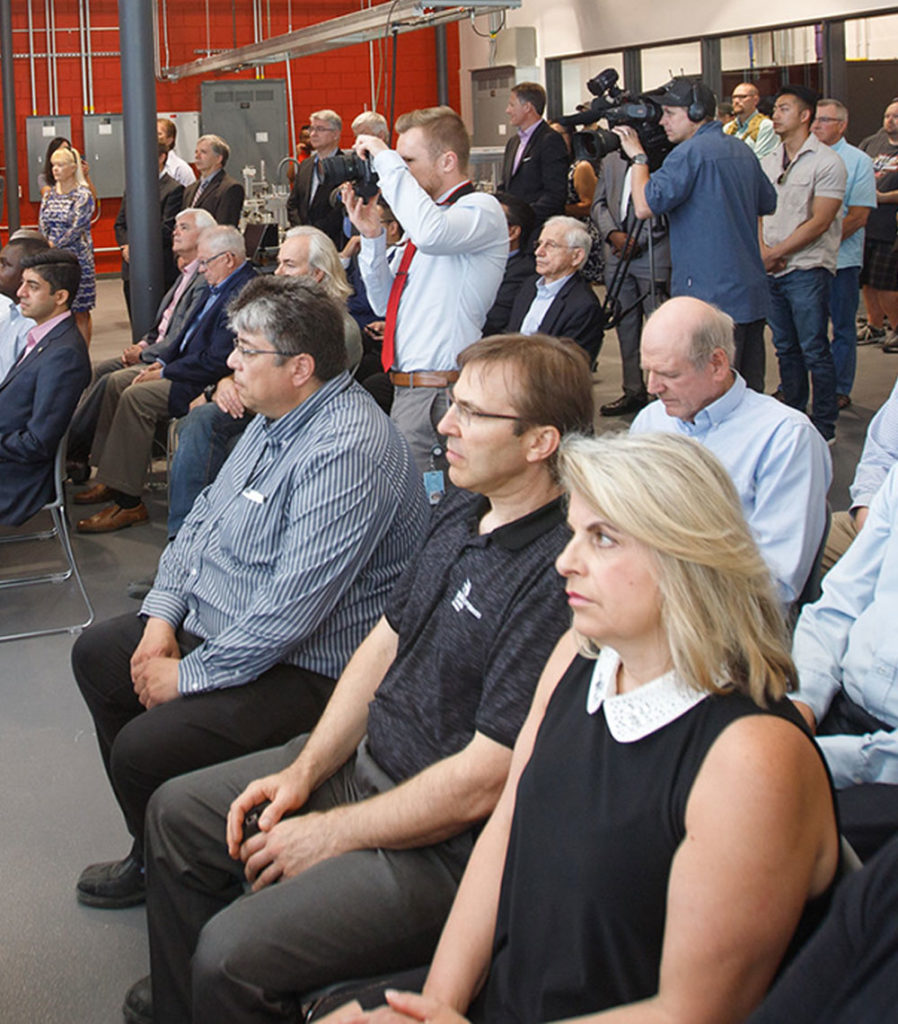 people in audience at event
